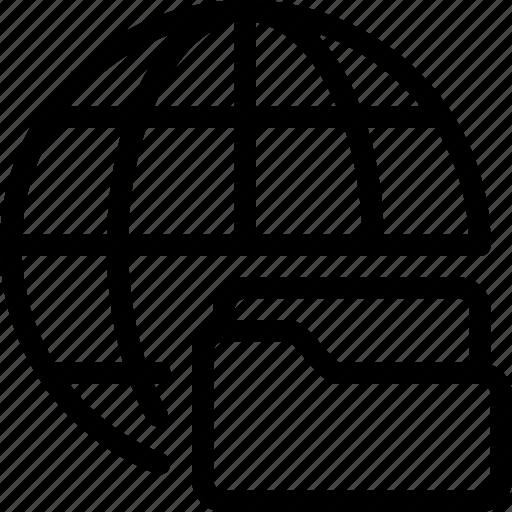 files, folder, global, server, storage icon