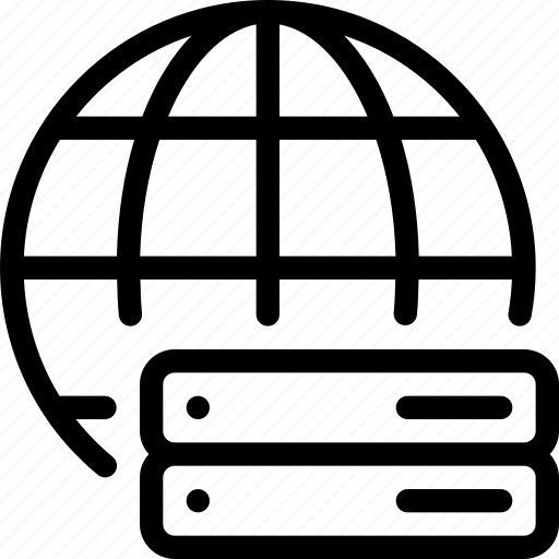 global, globe, network, server, storage icon