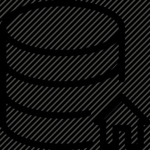 Database, home, data, server, storage icon - Download on Iconfinder