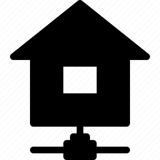 building, connected, home, house, property icon