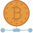 crypto, network, cryptocurrency, bitcoin icon