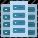 three, servers, multiple, server, stack icon
