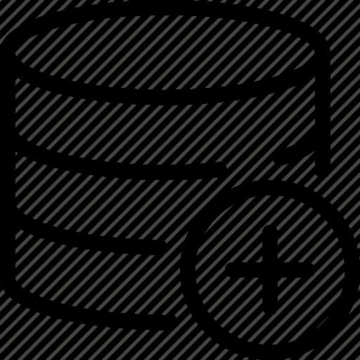 Add, data, database, storage icon - Download on Iconfinder