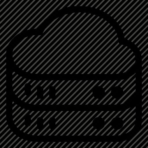 Cloud, data, database, hosting, server, storage icon - Download on Iconfinder