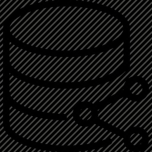 data, database, server, share, storage icon