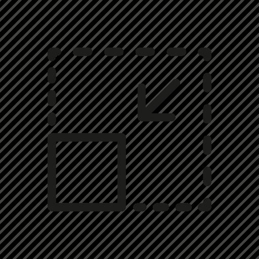 adjust, arrow, scale, service transformation, shink square icon