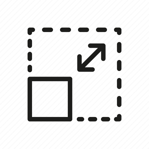 adjust, arrow, resize square, scale, service transformation, transform icon