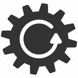 cog rotation, cogwheel, gear, rotate direction, settings, system tools, update wheel icon