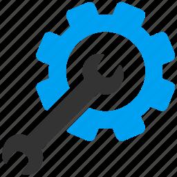 equipment, maintenance, preferences, repair service, settings, setup tools, system configuration icon