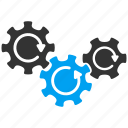 cog rotation, cogwheel, gear mechanism, gears, rotate direction, system tools, transmission icon