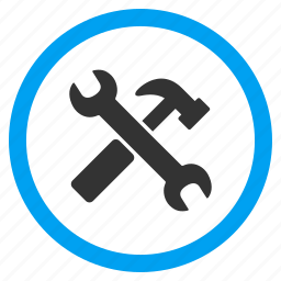 hammer, options, repair, service, spanner, system configuration, wrench icon