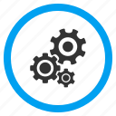 application tools, desktop settings, gear box, mechanism, options, system configuration, transmission gears icon