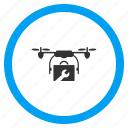 aircraft, copter, drone tools, multicopter, quadrocopter, service, support icon