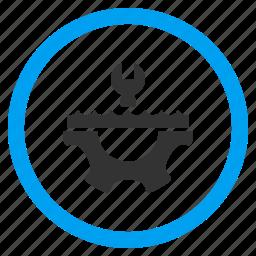 control options, equipment, liquid, plumbing, repair, supply, water service icon