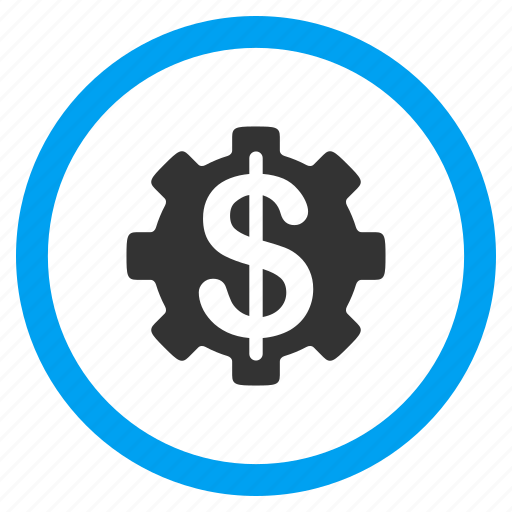 configuration, development cost, financial system, gear, options, price, tools icon