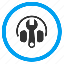 audio tools, headphone, headphones, headset, music, options, settings icon