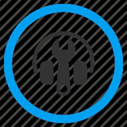 audio tools, headphone, headphones, headset, music, options, settings icon