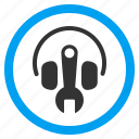 audio, headphone, headphones, headset tools, music, options, settings icon