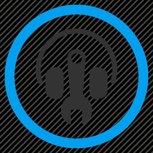 audio, headphone, headphones, headset tools, music, options, settings icon