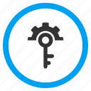 configuration, key tools, password, protection, safety, security options, settings icon