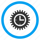 application tools, clock service, control center, schedule, settings, system configuration, time options icon