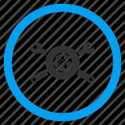 auto, car, repair, tire service, transport, vehicle, wheel icon
