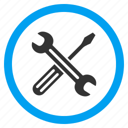 application tools, repair, screwdriver, service, spanner, system options, wrench icon