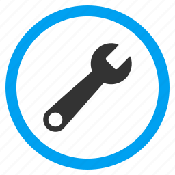 configuration, equipment, maintenance, settings, spanner, system options, wrench icon