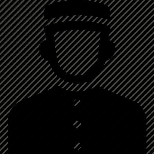 bellboy, bellhop, concierge, hotel, receptionist, service, staff icon
