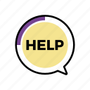bubble, call, help, service, speech, support icon