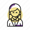 help, person, service, staff, support, woman icon