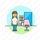 barber, dresser, hair, hairstyle, salon, service, woman icon