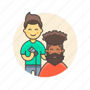 barber, dresser, hair, man, salon, service, shave icon