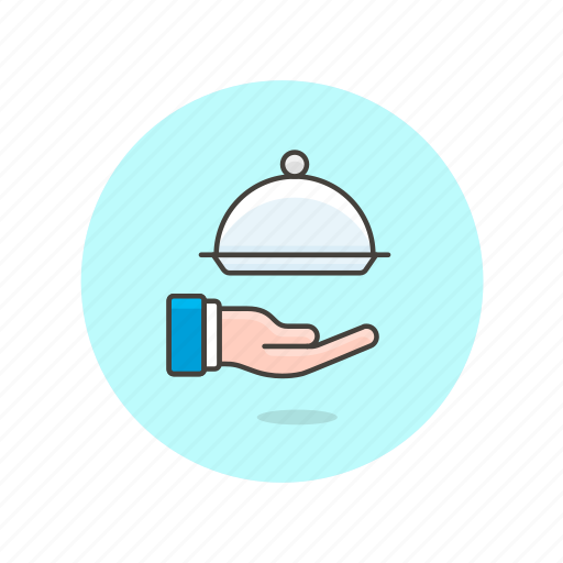 dish, hand, meal, plate, restaurant, service, waiter icon