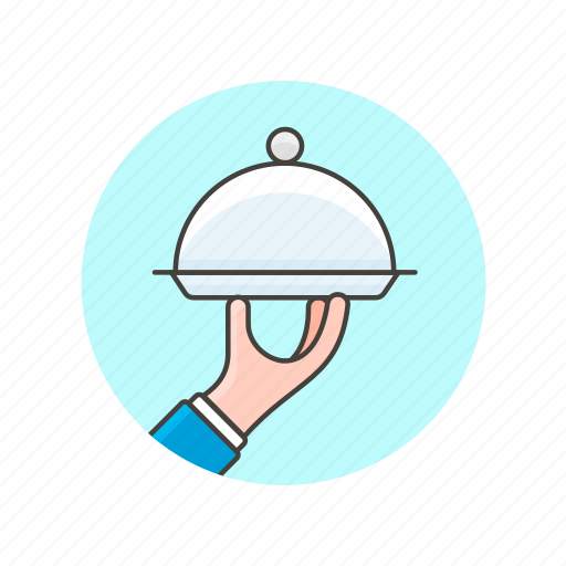 dish, plate, restaurant, service, services, waiter icon