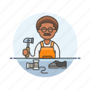 african, american, maker, male, services, shoe icon