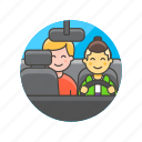 application, car, driver, man, taxi, transport, uber icon