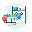 basket, cleaning, clothes, dirty, laundry, machine, services, washer, washing