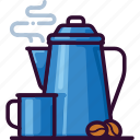 bean, beverage, cafe, coffee, hot, mug, percolator icon