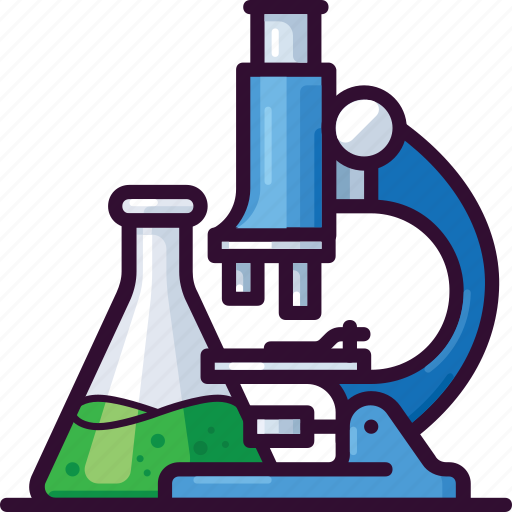 chemistry, education, laboratory, learn, microscope, research, science icon
