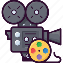 camera, cinema, film, movie, record, video icon