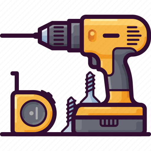 Construction, drill, equipment, repair, tool, work icon - Download on Iconfinder