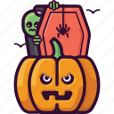 death, monster, spooky, horror, halloween, zombie, pumpkin