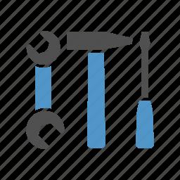 car refit, car service, repair shop, roadside service, tool icon