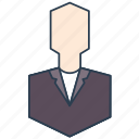 businessman, customer, head, manager, process owner, staff icon