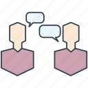 conversation, debate, dialogue, discussion, negotiation icon