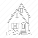 building, construction, design, estate, home, property, residential icon