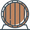 barrel, barrel of beer, beer, outline icon