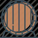 barrel, barrel of beer, beer, outline