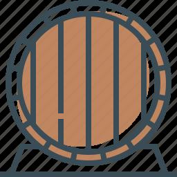 barrel, barrel of beer, beer, outline icon